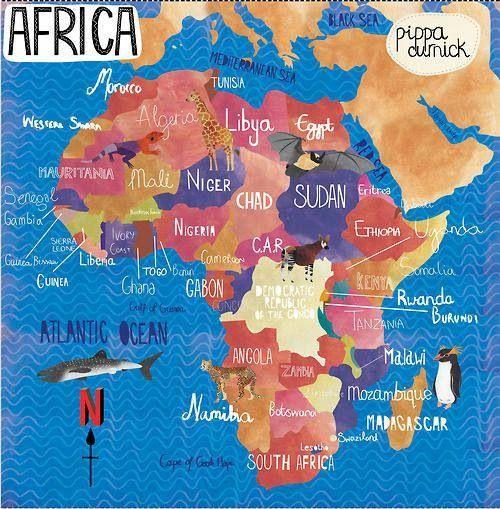Mapa de Africa Vía Ducksters.com