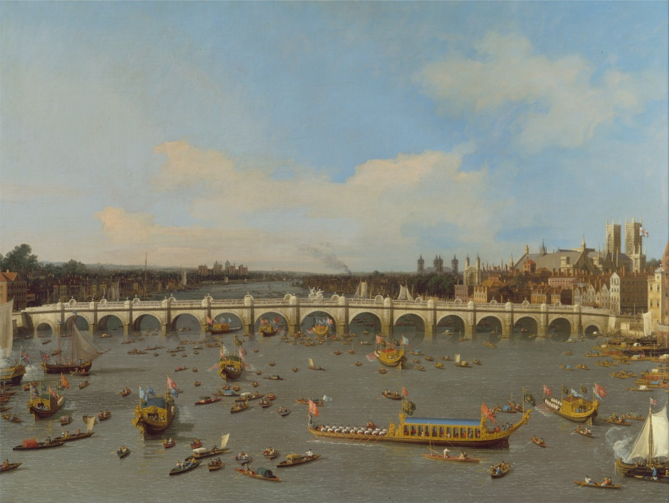 Canaletto_-_Westminster_Bridge,_with_the_Lord_Mayor's_Procession_on_the_Thames_-_Google_Art_Project