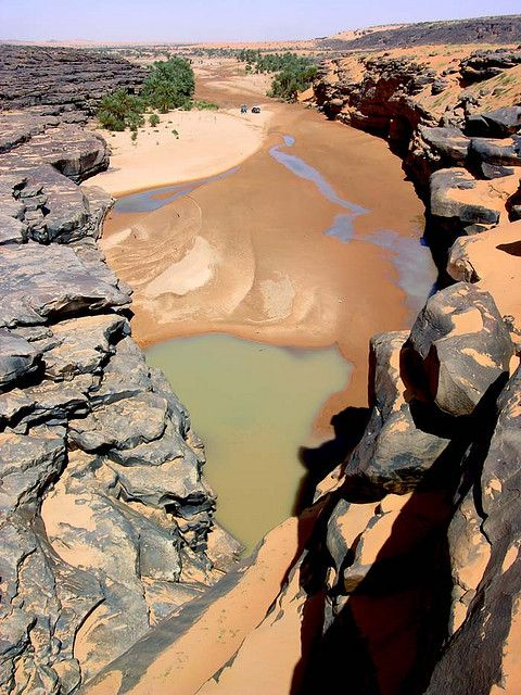 Guelta de Taoujafet, entre Chinguetti et Tidjikja en Mauritanie Vía Jacques Taberlet